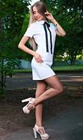 Деловое платье белое
