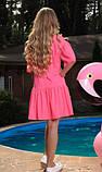 Розовое летнее платье, фото 2