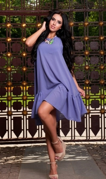Платье сиреневого цвета