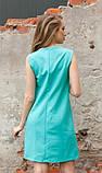 Платье с вышивкой ментоловое, фото 2