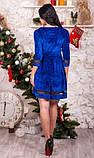 Бархатное платье беби долл синее, фото 2