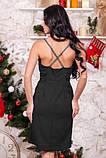 Платье с запахом черного цвета, фото 2