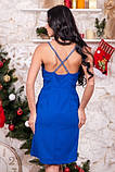 Плаття синього кольору з запахом, фото 2