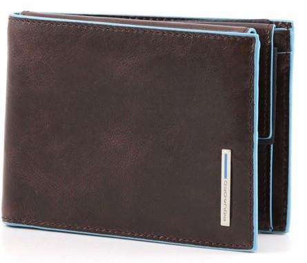 Кожаное портмоне Piquadro 12,5х9х3 см. горизонтальное с отделением для документов PU1392B2_MO коричневый
