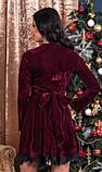 Бордове оксамитове плаття, фото 2