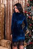 Платье из бархата синее, фото 2