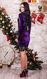 Платье из бархата фиолетовое, фото 2