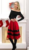 Платье черное с красным