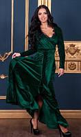 Длинное платье из бархата
