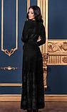 Довге чорне плаття з оксамиту, фото 2