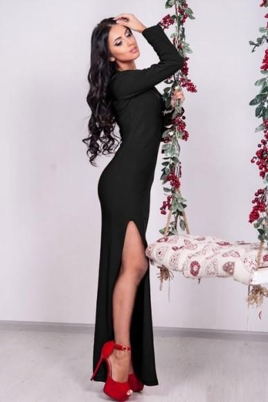 Плаття чорного кольору в підлогу