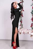 Платье черного цвета в пол