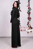 Плаття чорного кольору в підлогу, фото 2