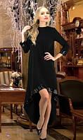 Удлиненное черное платье