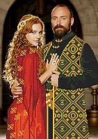 Схема вышивки бисером Хюррем и Сулейман