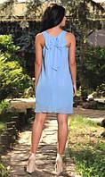 Сарафан с бантиком на спинке голубой