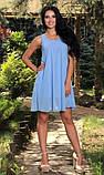 Сарафан з бантиком на спинці блакитний, фото 2
