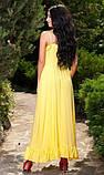 Сарафан желтого цвета с воланами, фото 2
