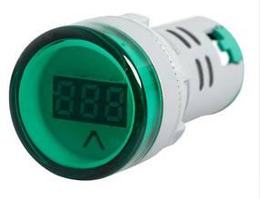 Цифровой вольтметр AC 60-500V зеленый AD16-22DSV панельный