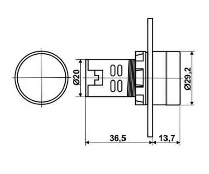 Цифровой вольтметр AC 60-500V красный AD16-22DSV панельный, фото 2