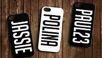 Именной чехол на мобильный (на все модели телефонов) Iphone Samsung Prestigio