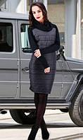 Черное зимнее платье