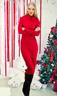 Платье ниже колен красное
