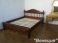 """Кровать с резьбой """"Венеция"""" (200*160) массив - дуб."""
