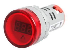 Цифровий вольтметр AC 60-500V червоний AD16-22DSV панельний