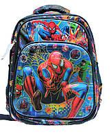 Школьный рюкзак Человек Паук для мальчиков 1, 2, 3 класс. Портфель ранец ортопедический для школы
