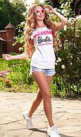 Футболка с надписью Барби