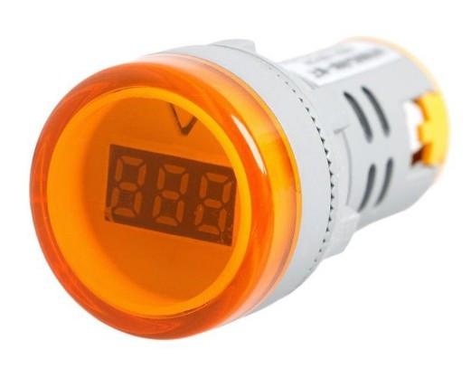 Цифровой вольтметр AC 60-500V желтый AD16-22DSV панельный