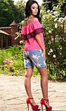 Блуза розового цвета с черным кружевом, фото 2