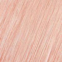 Шторы Нити, кисея, персиковый №209