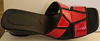 Летние женские сабо красные кожа, кожаная летняя обувь от производителя модель ВЛ69Р-3