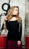 Кофточка черного цвета с чокером