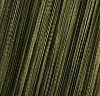 Шторы Нити, кисея,темно- зеленый (болотный) №210 хаки