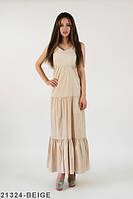 Жіноче повсякденне бежеве плаття-максі Fareway