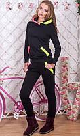Спортивный костюм утепленный черный