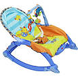 Детская шезлонг - качалка 7179. Вибрация, дуга с игрушками,, фото 6