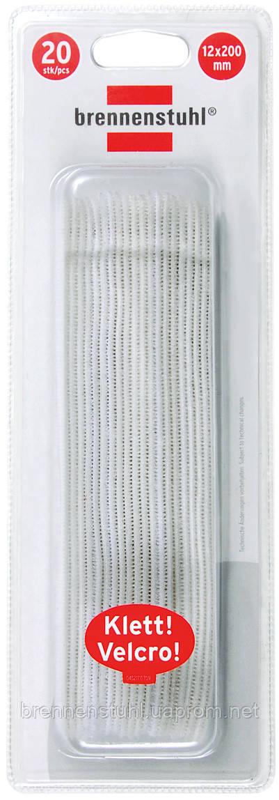 Стяжка липучка 200 мм; біла