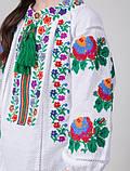 Модная вышитая детская блуза на домотканке (128-158), фото 2