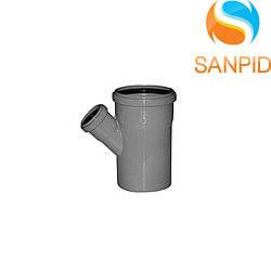Трійник для внутрішньої каналізації Wavin 110х50/45°