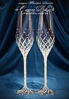 Свадебные бокалы со стразами Сваровски (Тюльпаны) (уточняйте сроки перед заказом)