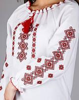 Вышиванка женская на белом хлопке