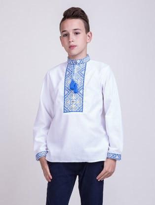 Вышитая рубашка крестиком Филип