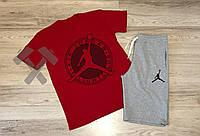 Спортивный костюм летний комплект мужской шорты и футболка AIR JORDAN