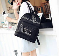 Рюкзак MENGHUO кот  (черный)
