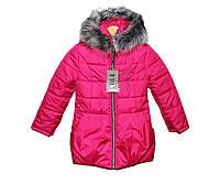 Пальто детское на меху для девочки на овчине HL 210, фото 1