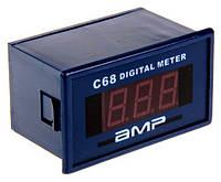 Цифровой амперметр переменного тока 10А 220V панельный